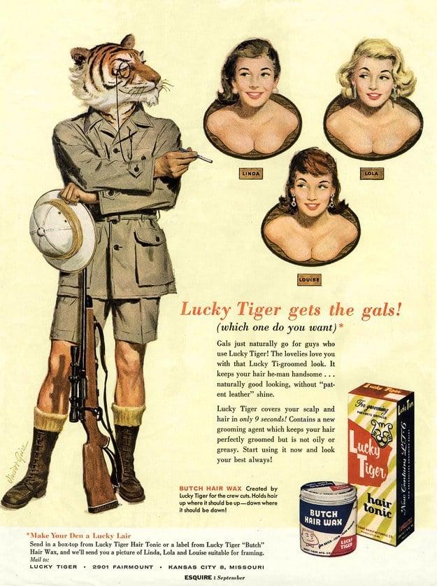 Lucky Tiger, McCann Erickson Agency, Esquire, 1957