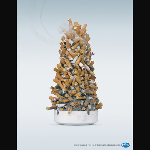 cigarette christmas tree