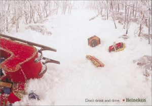 Christmas sleigh crash