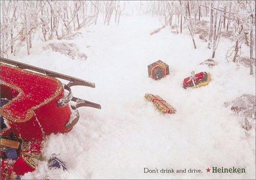 Christmas sleigh crash